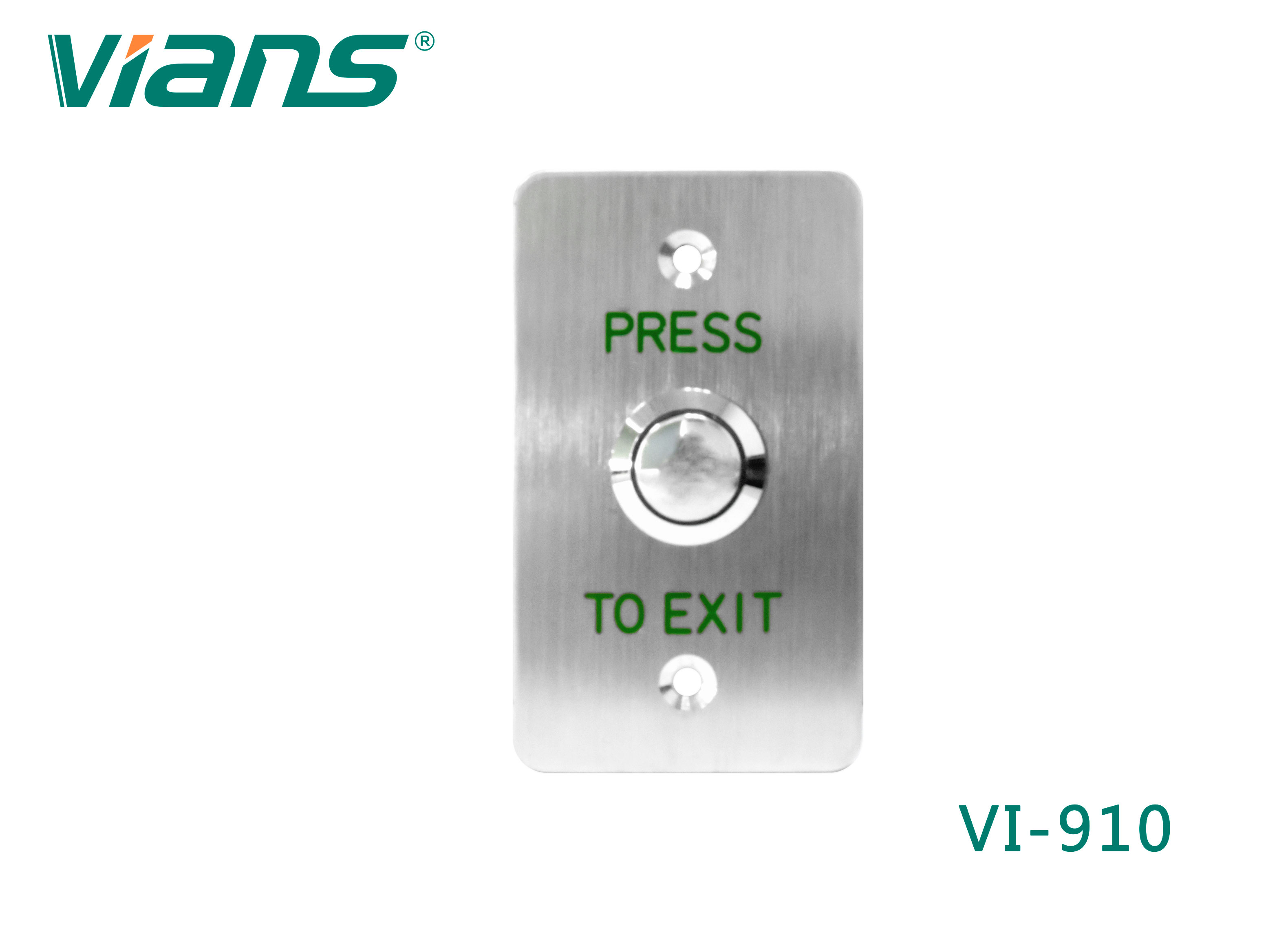 Exit Button (Stainless Steel)